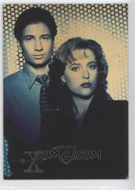 1995 Topps The X Files Season 1 Promos #01 - Fox Mulder, Dana Scully