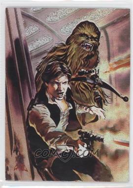 1996 Topps Finest Star Wars - Matrix #1 - Han Solo & Chewbacca
