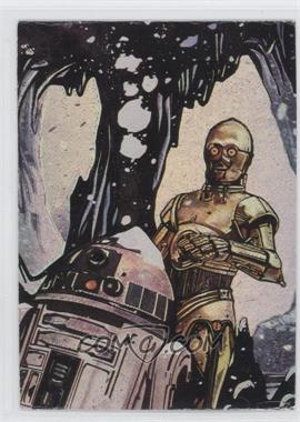 1996 Topps Finest Star Wars - Matrix #2 - C-3PO & R2-D2