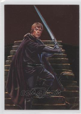 1996 Topps Finest Star Wars Embossed Foil #F2 - Luke Skywalker