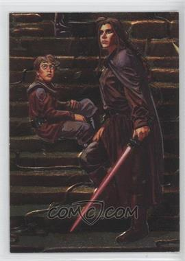 1996 Topps Finest Star Wars Embossed Foil #F5 - Anakin Solo, Princess Leia Organa