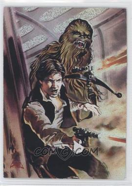 1996 Topps Finest Star Wars Matrix #1 - Han Solo & Chewbacca