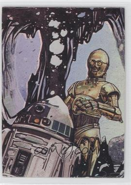 1996 Topps Finest Star Wars Matrix #2 - C-3PO & R2-D2