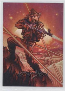 1996 Topps Finest Star Wars Refractor #15 - Nien Nunb