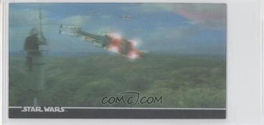 1997 Topps Star Wars Trilogy Special Edition Widevision Box Topper Leticular #1 3-D - X-Wings Departing