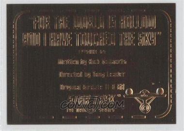 1999 Skybox Star Trek: The Original Series Season 3 Gold Plaques #G65 - [Missing]