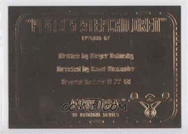 "1999 Skybox Star Trek: The Original Series Season 3 Gold Plaques #G67 - ""Plato's Stepchildren"""