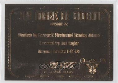 1999 Skybox Star Trek: The Original Series Season 3 Gold Plaques #G72 - [Missing]