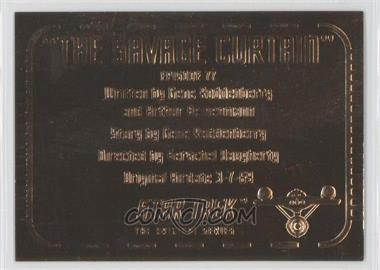 "1999 Skybox Star Trek: The Original Series Season 3 Gold Plaques #G77 - ""The Savage Curtain"""