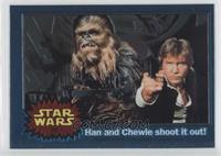 Han and Chewie shoot it out!
