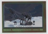 Rebel Snowspeeders Zero In!