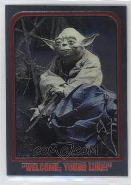 """1999 Topps Star Wars Chrome Archives Promos #P2 - """"Welcome, young Luke!"""" (Yoda)"""