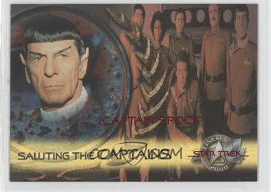 2000 Skybox Star Trek: Cinema 2000 Saluting the Captains #SC2 - Captain Spock