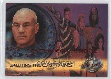 2000 Skybox Star Trek: Cinema 2000 Saluting the Captains #SC7 - Captain Jean-Luc Picard
