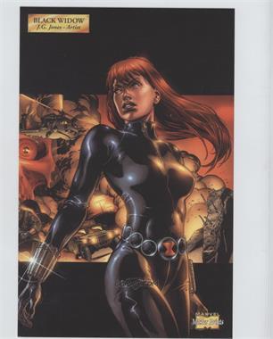 2001 Marvel Master Prints - [Base] #BLWI - Black Widow
