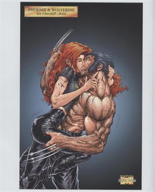 2001 Marvel Master Prints - [Base] #PHWO - Phoenix & Wolverine
