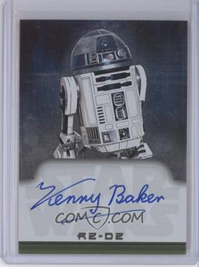 2001 Topps Star Wars: Evolution Autographs #NoN - Kenny Baker as R2-D2