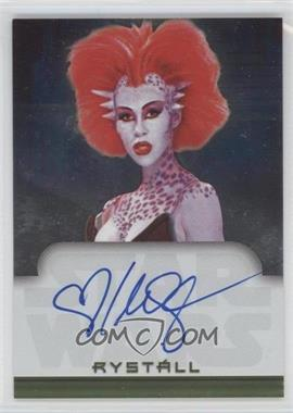 2001 Topps Star Wars: Evolution Autographs #NoN - Mercedes Ngoh as Rystall