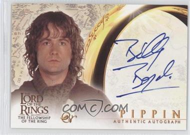 2001 Topps The Lord of the Rings: The Fellowship of the Ring Autographs #BIBO - Billy Boyd as Pippin