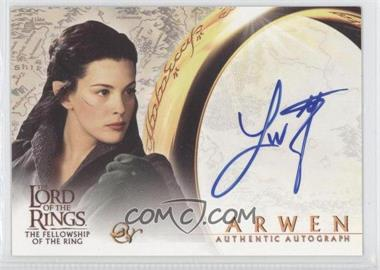 2001 Topps The Lord of the Rings: The Fellowship of the Ring Autographs #LITY - Liv Tyler as Arwen