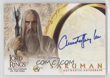 2001 Topps The Lord of the Rings: The Fellowship of the Ring Autographs #N/A - Saruman (Christopher Lee)