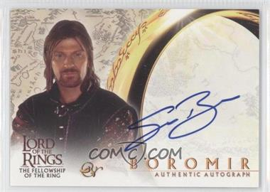 2001 Topps The Lord of the Rings: The Fellowship of the Ring Autographs #SEBE - Sean Bean as Boromir