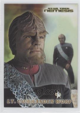 2002 Rittenhouse Star Trek: Nemesis - Casting Call Cel Cards #CC4 - Lt. Commander Worf