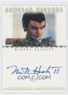 2002 Rittenhouse Star Trek: Nemesis Romulan History Autographs #RA2 - Martha Hackett as T'Rul
