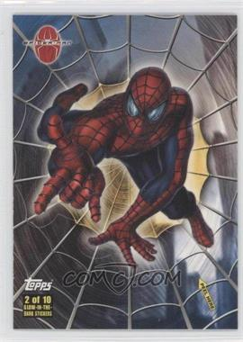 2002 Topps Spider-Man: The Movie Glow-in-the-Dark Stickers #2 - Spider-Man