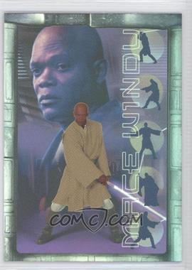 2002 Topps Star Wars: Attack of the Clones Prismatic Foil #7 - Mace Windu