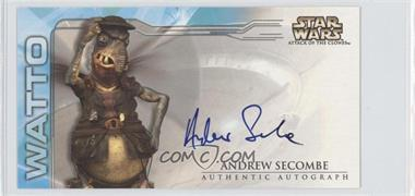 2002 Topps Star Wars: Attack of the Clones Widevision Autographs #NoN - Andrew Secombe as the voice of Watto