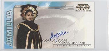 2002 Topps Star Wars: Attack of the Clones Widevision Autographs #NoN - Ayesha Dharker as Queen Jamillia