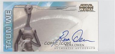 2002 Topps Star Wars: Attack of the Clones Widevision Autographs #NoN - Rena Owen as Taun We