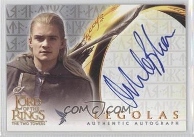 2002 Topps The Lord of the Rings The Two Towers - Autographs #ORBL - Orlando Bloom as Legolas