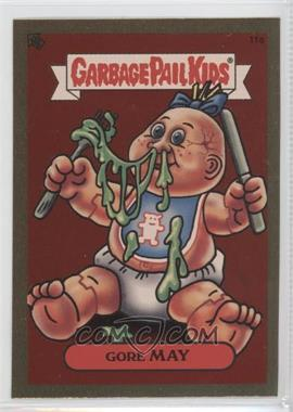 2003 Topps Garbage Pail Kids All-New Series 1 Foil Stickers Gold #11a - Gore May