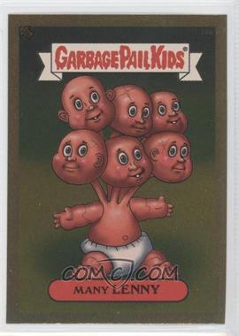 2003 Topps Garbage Pail Kids All-New Series 1 Foil Stickers Gold #14a - Many Lenny