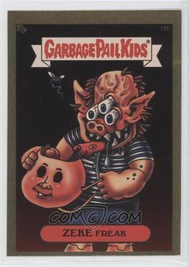 2003 Topps Garbage Pail Kids All-New Series 1 Foil Stickers Gold #15b - Zeke Freak