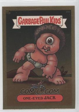 2003 Topps Garbage Pail Kids All-New Series 1 Foil Stickers Gold #20b - One-eyed Jack