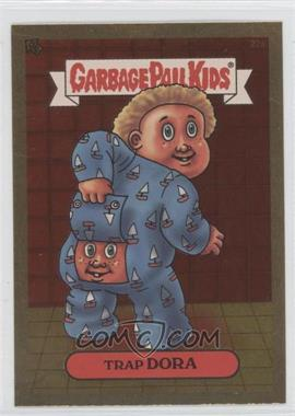 2003 Topps Garbage Pail Kids All-New Series 1 Foil Stickers Gold #22a - Trap Dora