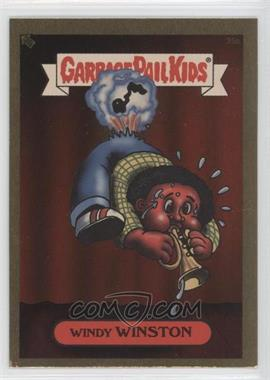 2003 Topps Garbage Pail Kids All-New Series 1 Foil Stickers Gold #25a - Windy Winston