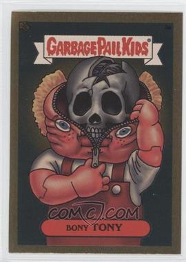 2003 Topps Garbage Pail Kids All-New Series 1 Foil Stickers Gold #3a - Bony Tony