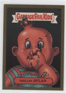 2003 Topps Garbage Pail Kids All-New Series 1 Foil Stickers Gold #9b - Drillin' Dylan