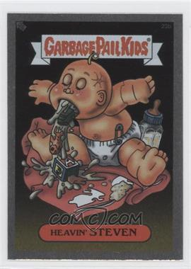 2003 Topps Garbage Pail Kids All-New Series 1 Foil Stickers Silver #23b - Heavin' Steven