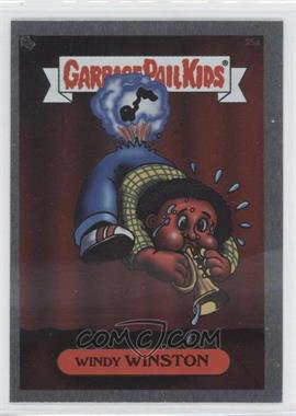 2003 Topps Garbage Pail Kids All-New Series 1 Foil Stickers Silver #25a - Windy Winston