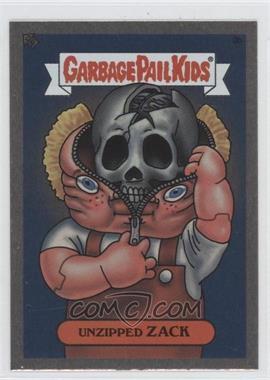 2003 Topps Garbage Pail Kids All-New Series 1 Foil Stickers Silver #3b - Unzipped Zack