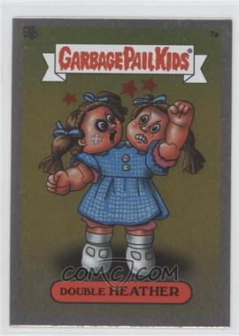 2003 Topps Garbage Pail Kids All-New Series 1 Foil Stickers Silver #7a - Double Heather