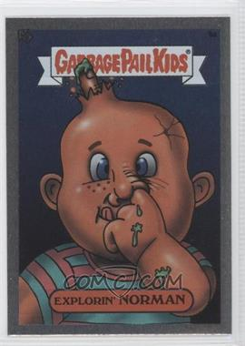 2003 Topps Garbage Pail Kids All-New Series 1 Foil Stickers Silver #9a - Explorin' Norman