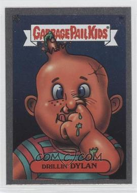 2003 Topps Garbage Pail Kids All-New Series 1 Foil Stickers Silver #9b - Drillin' Dylan