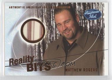 2004 Fleer American Idol: Season 3 Reality Bits #RB-MR - Matthew Rogers