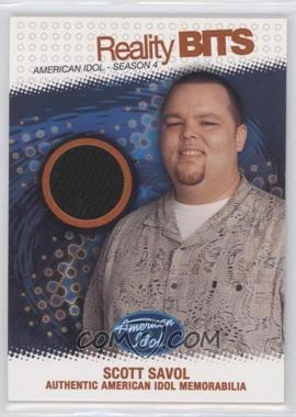 2005 Fleer American Idol: Season 4 Reality Bits Silver #RB-SS - Scott Savol /100